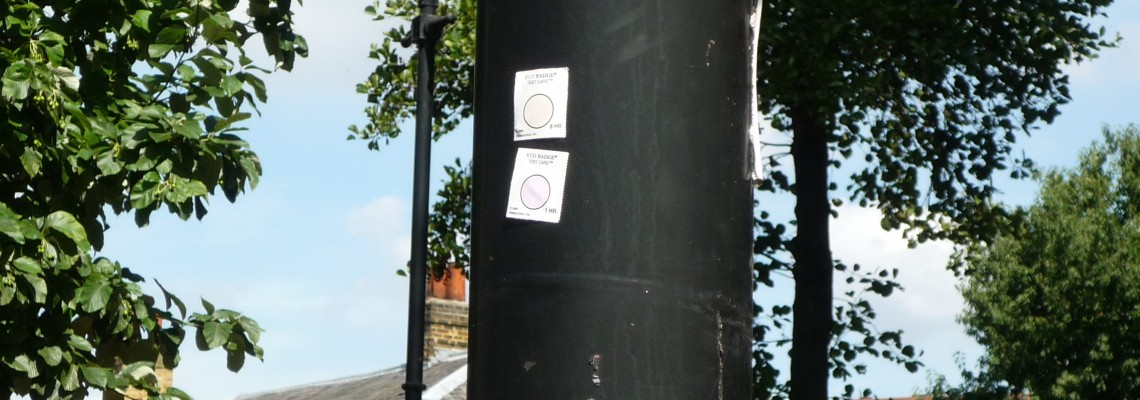 Eco Badge test cards installed around the area