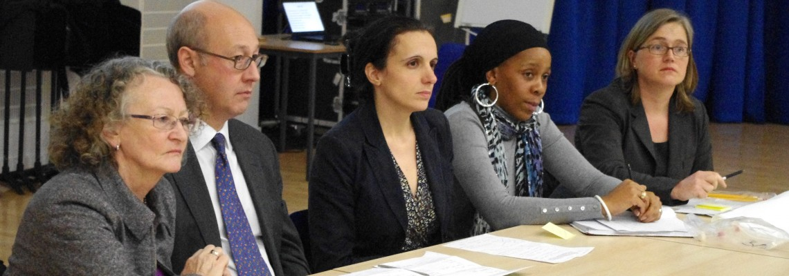 Politicians and NGO leaders attend results community meeting