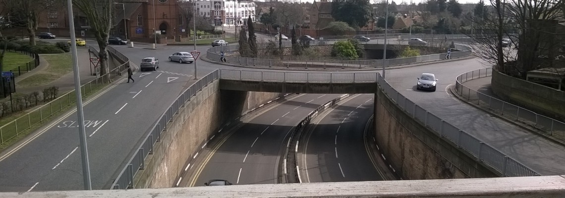 Queensway roundabout in Southend