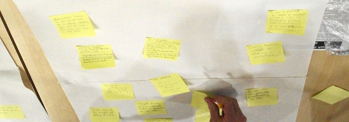 Residents collect ideas for reducing their personal exposure to air pollution