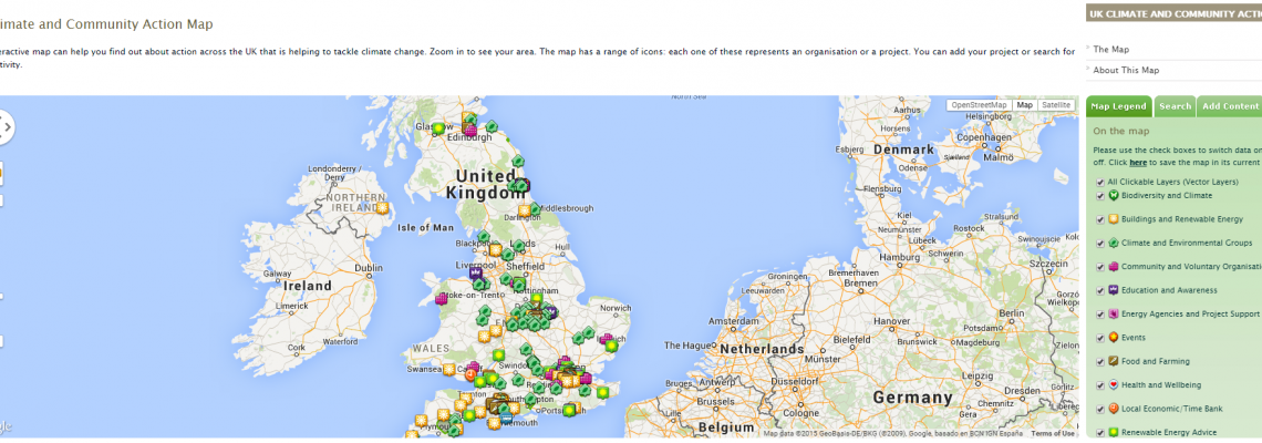 The UK Climate and Community Action Map