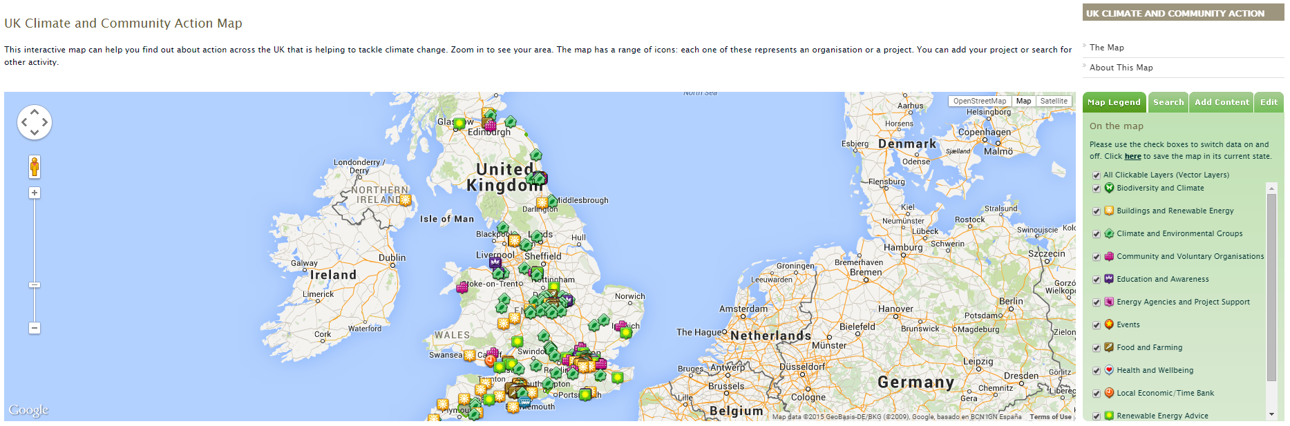 the uk climate and community action map mapping for change mapping for change
