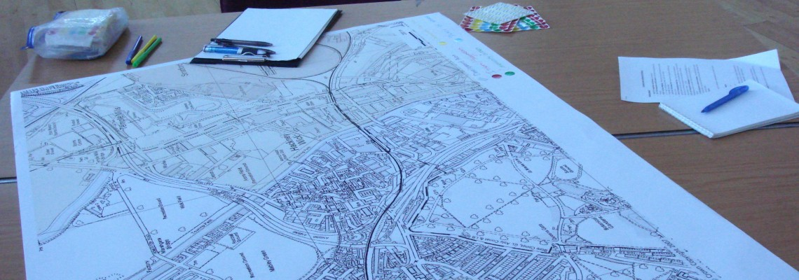 The map awaits annotation at Hackney Wick