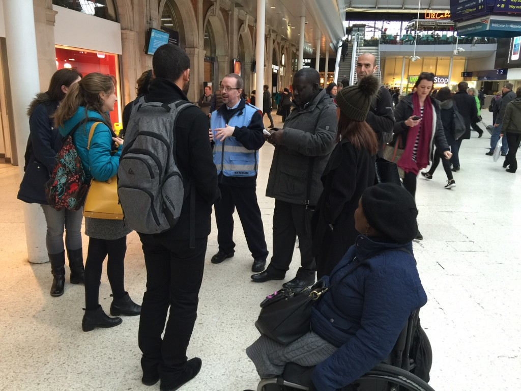 Waterloo station staff explain access improvements taking place